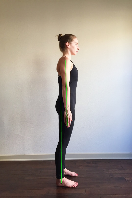 Proper Alignment Tadasana Side