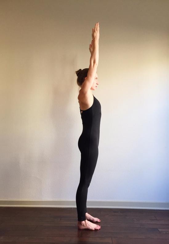 Proper Alignment Upward Salute Side