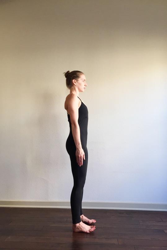 Tadasana Leaning Back