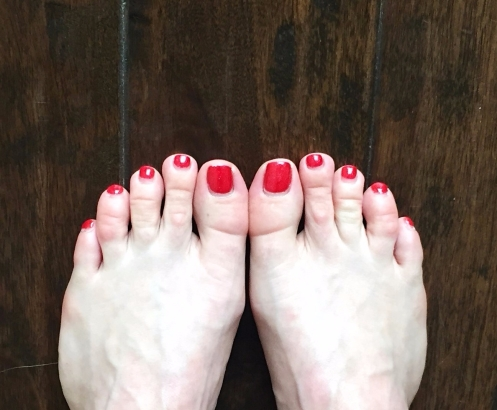 Toes Together Heels Apart